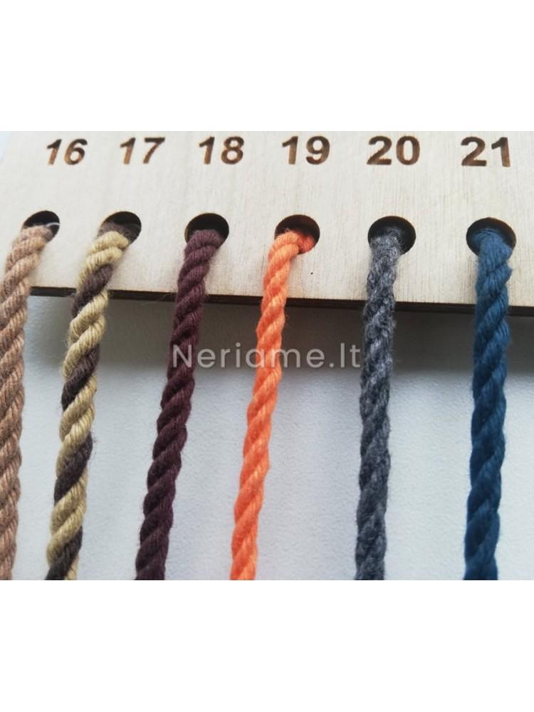 Macrame medvilninė virvelė 3 gijų