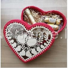 Komplektas dėžutei širdelė 32cm