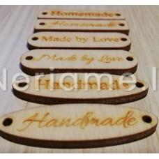 Etiketė medinė